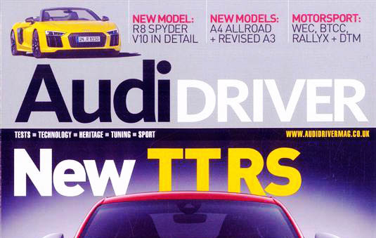 PR: Audi Driver Magazine May Issue